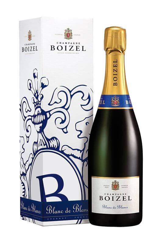 Champagne Blanc de Blancs, sous étuis