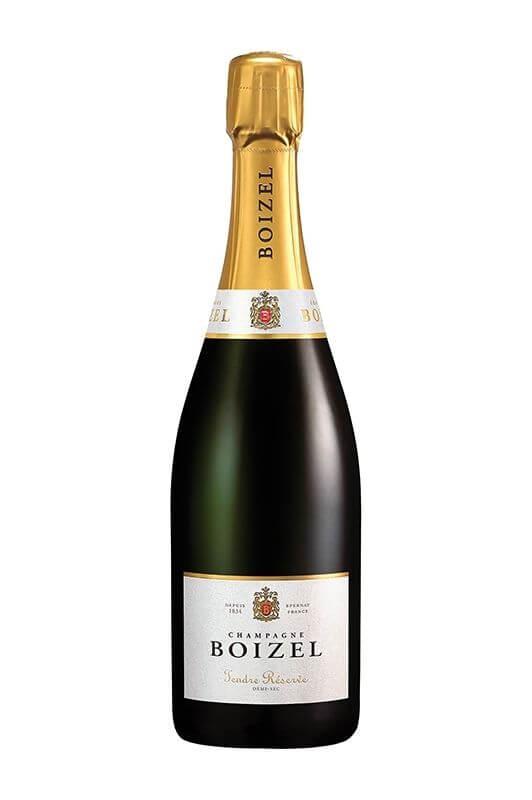 Champagne Tendre réserve, sous étuis