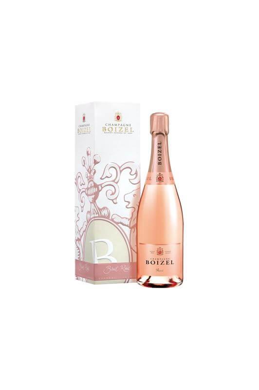 Champagne Rosé, sous étuis
